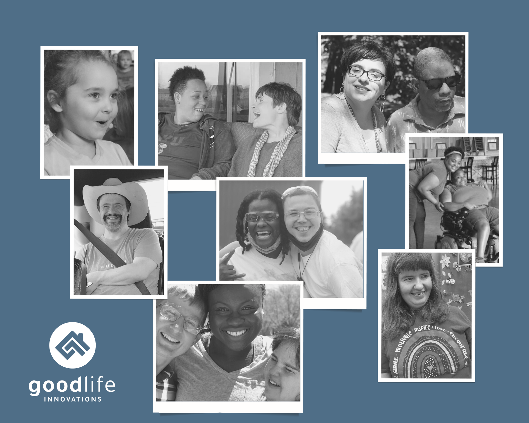 Image collage of GoodLife members & staff